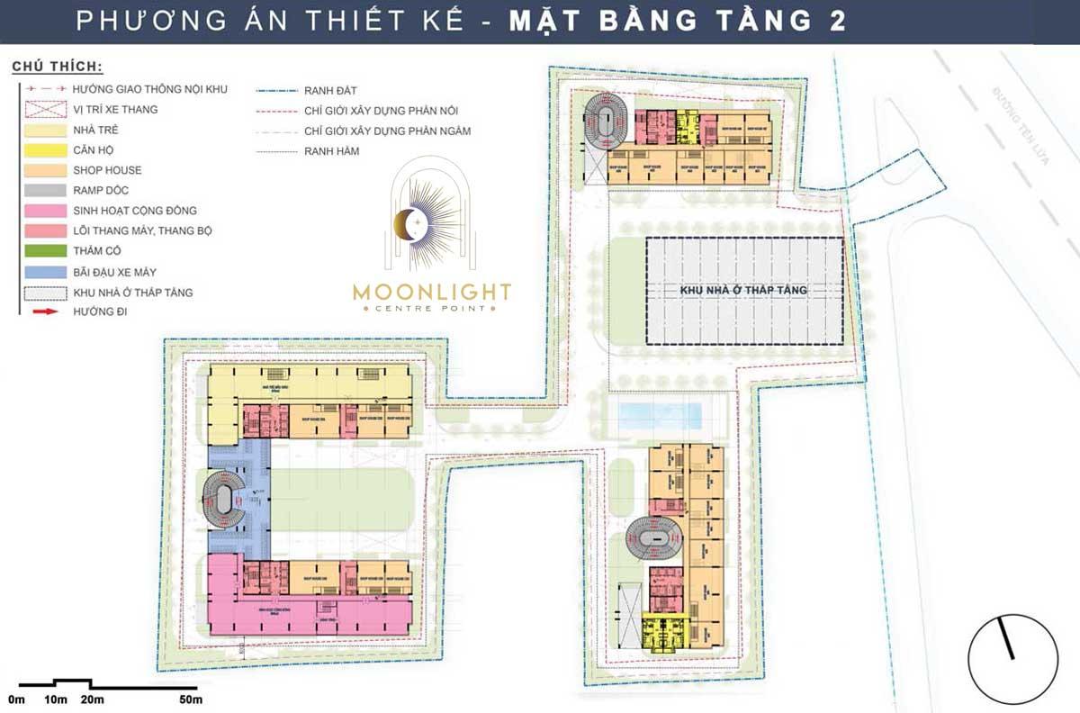 Mat bang Tang 2 Du an Moonlight Centre Point Binh Tan
