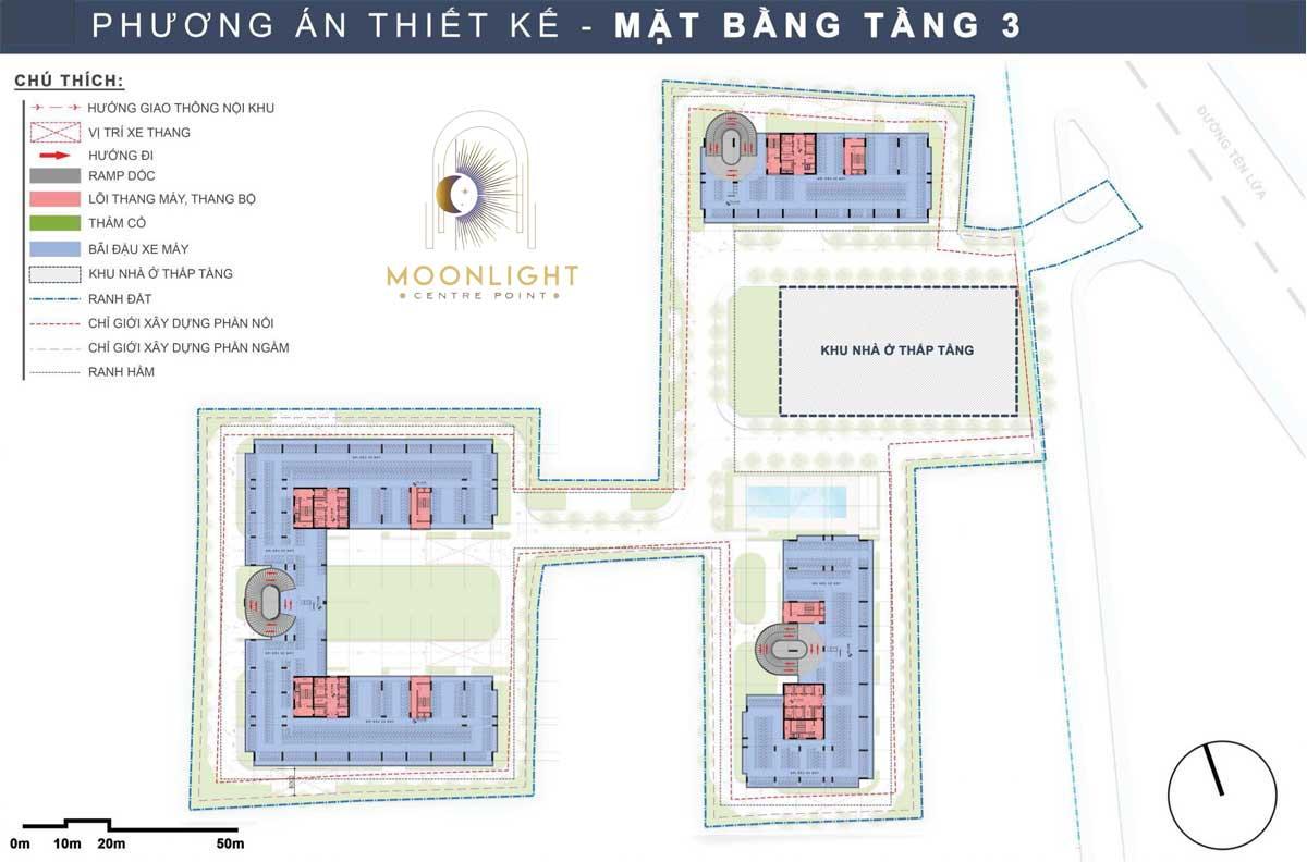 Mat bang Tang 3 Du an Moonlight Centre Point Binh Tan