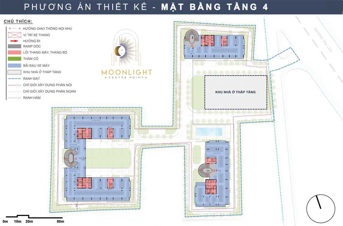 Mat bang Tang 4 Du an Moonlight Centre Point Binh Tan