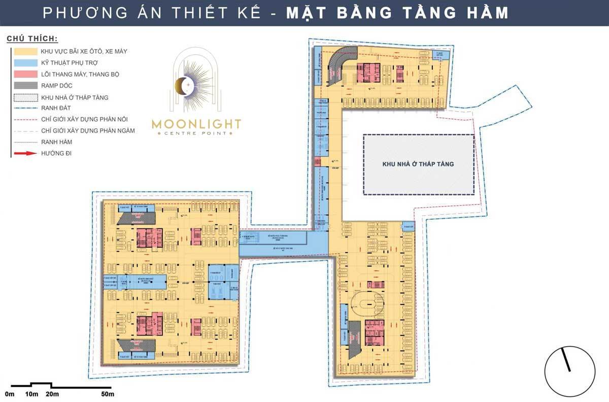 Mat bang Tang Ham Du an Moonlight Centre Point Binh Tan